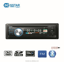 High Quality cheap universal 1din detachable panel car radio system DVD player with usb sd fm radio bluetooth