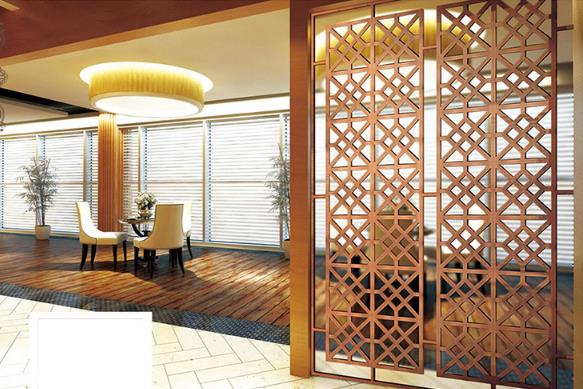 Commercial Hotel OR ROOM Decorative stainless steel room divider
