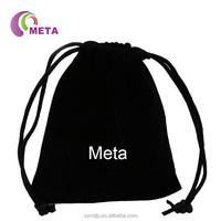Customized Logo Black Velvet Pouch Bag / Velvet Jewelry Pouch / Jewellery Velvet Bag
