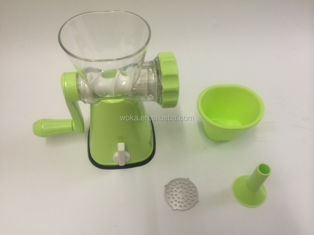 Amazon best quality professional hand opeared grinder manual meat slicer meat mincer machine