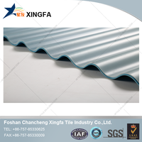 Clear polyvinyl chloride corrugated roofing sheets/ PVC translucent tile roofing for skylight