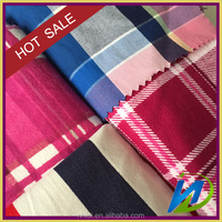 ready stock 100 cotton red check yarn dyed woven fabric