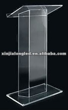 Modern and Clear Acrylic Church Rostrum Acrylic Lectern Acrylic Platform Plexiglass Dais