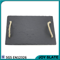 Wholsale Round Slate Cheese Plate with Rope Handle / Metal Handle