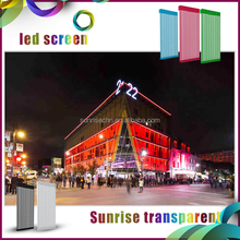 popular building media facade mesh transparent led board display outdoor