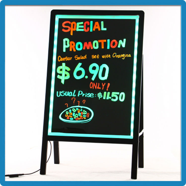 new idea advertising of restaurant stand writing board led advertising sign
