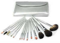 Makeup Brush Collection-Silver Series 15 PCS
