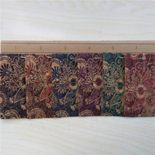 Fashion Wood Grain PU Leather Cork Fabric Leather for Shoes for Bags