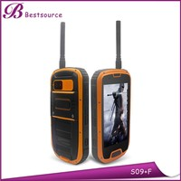 Outdoor durable 4.3 inch MTK6589W quad core 1G 4G IPS screen rugged waterproof mobile phone with 2 dual sim car slot