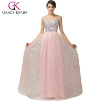 2015 New Style Strapless A line Beautiful Women Sequins tulle Evening Dress CL6150-1#
