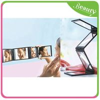 personalized cosmetic mirror ,H0T010 lighted desktop makeup mirror , styling station small mirror