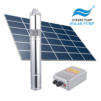 Solar Submersible Water Pump System with solar pump controller single phase