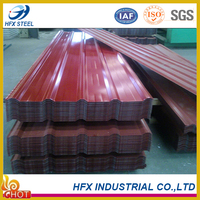Wholesale Price of Galvanized Corrugated Terracotta Metal Roof Tile with SGS certification