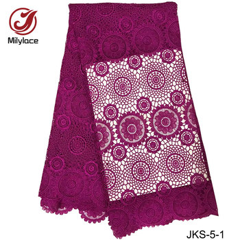 Classical african lace fabrics warer soluble guipure lace for sewing clothes