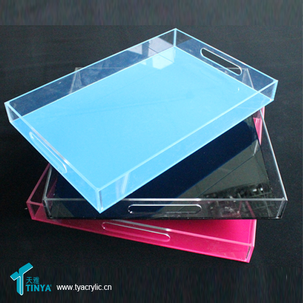 Acrylic Clear Lucite Serving Tray Lucite Tray Clear Plastic Rectangular Tray