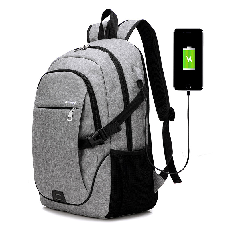 Fashion 15.6 inch Nylon laptop backpack with usb port casual lightweight waterproof USB Backpack for <strong>school</strong>