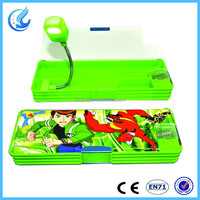 Hot sell Plastic pencil case with LED light