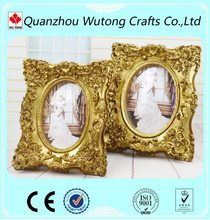 Wholesale Wedding Photo Frame with Resin Crafts of Golden Rahmen