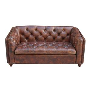 Vintage Leather Living Room Wooden Sofa Set Designs