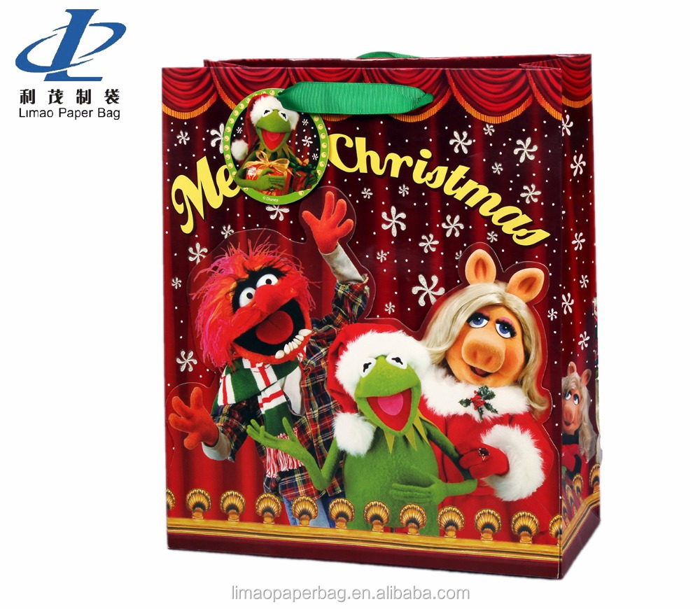 Christmas santa claus cost production paper gift bags
