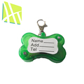 Bone Shaped Plastic Colorful Bling Bling Feature Dogs Pet Tags