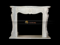 french style marble fireplace mantel