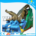 Giant crocodile animal pvc cheap inflatable dry slides for child for party use