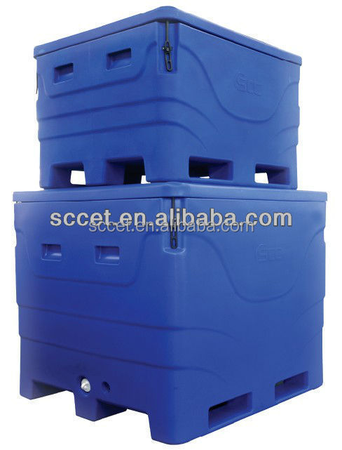 600L Roto-molded Fish Box, Fish Tubs, frozen food storage container