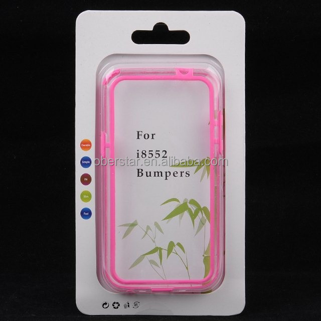 TPU Bumper Phone Case Clear Hard Back Skin Cover for Samsung I8552 GALAXY Win