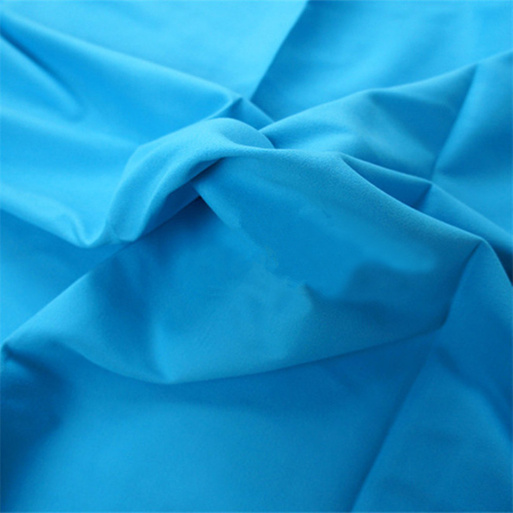 Microfiber brushed polyester and nylon fabric for bath towel