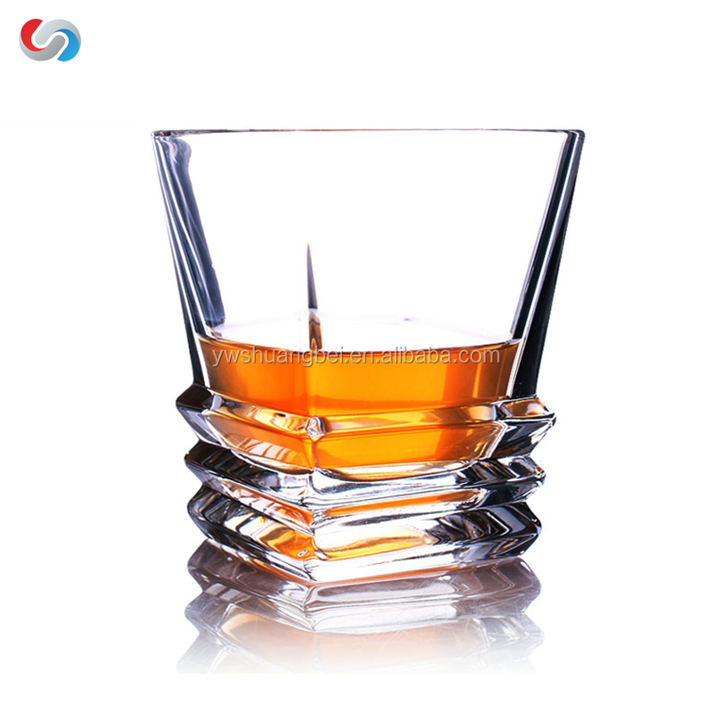 300ml Fashion Design Lead-free Crystal Glass Tumbler For Whiskey, Glass Beer Cup