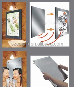 Wall- Mounted Led Magic Mirror Light Box For Advertising Display ...