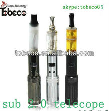 hot selling newest product hight quality mini electronic cigarette for 2013 gs sub 2.0 telescope vv mod