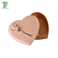 Gold Pink heart-shaped florist packing gift flower paper box