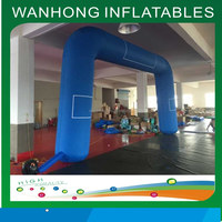 Moveable outdoor event arch inflatable entrance arch blue finish line arch for race