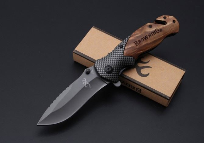 Browning X50 Imitate carbon fiber quick-opening folding army tactical outdoor tool combat pocket survival hunting <strong>knife</strong>