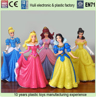 plastic princess fashion doll,making 4inch fashion dolls, custom princess pvc doll figure