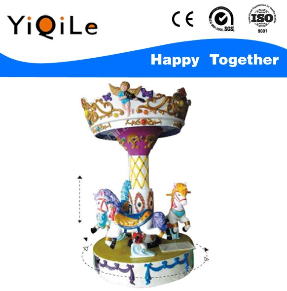 Kiddie carousel rides amusement park carousel horses for sale used playground equipment merry go round