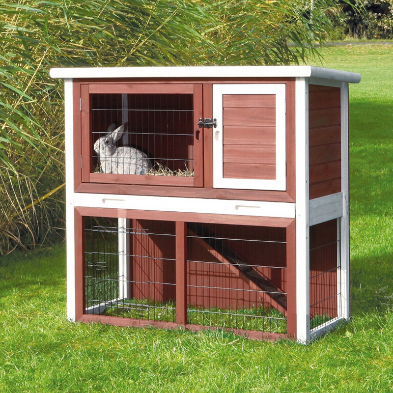 Large Luxury Double Decker Wooden Rabbit Hutch