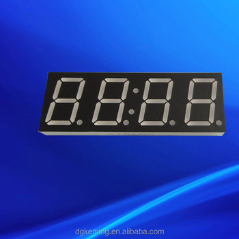 "common cathode yellow color 0.8"" 7 segment 4 digits led display screen"