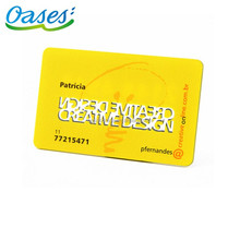 Rfid low frequency rewritable em4305 pvc warranty card supplier