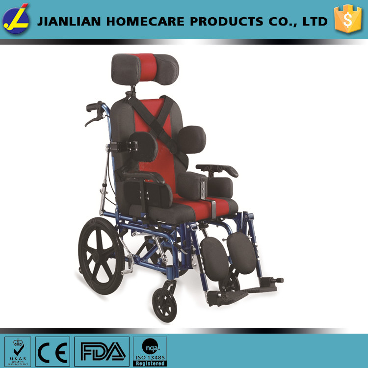 2016 new products alminum reclining cerebral palsy handicapped wheelchair JL9020L