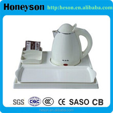 Hotel products marble tea kettle melamine tray set