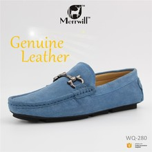 Genuine Leather Metal Buckle Loafer Mens Driving Shoes