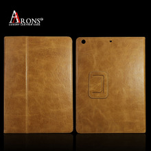 Genuine oil wax top grain leather for ipad air leather case