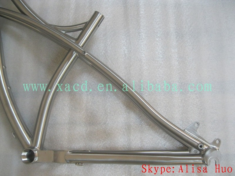 OEM titanium fat bike frame 26er titanium fat bicycle frame 29er super light fat bike frame