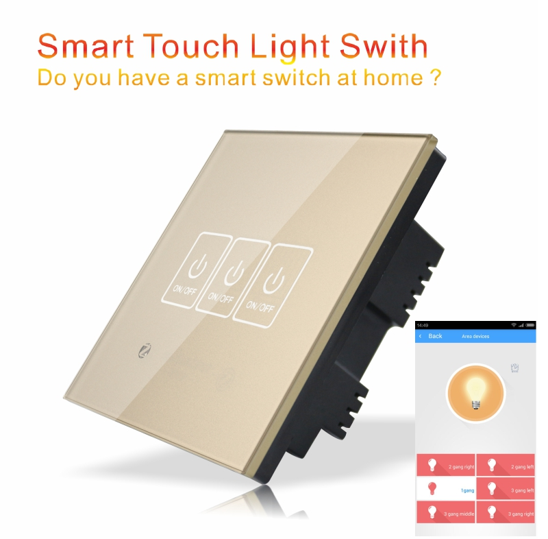EU/UK Zigbee HA1.2 Touch Light Switch for Home Automation