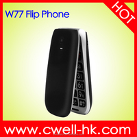 Hotsale W77 Quad Band 2.2 inch TFT screen Big button old man Flip phone