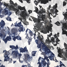 Brand new high abrasion resistance floral shaped chiffon printed fabric