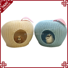 Wonderful high quality comfortable apple shape dog cat cage house bed pet furniture